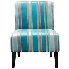 Cyan Design Ms. Stripy Turquoise Blue Chair