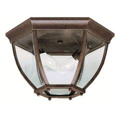 Kichler Outdoor Ceiling Light with Clear Glass in Bronze Finish