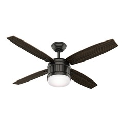 Hunter 52-Inch Noble Bronze LED Ceiling Fan with Light with Hand Held Remote