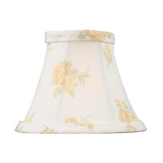 White Bell Lamp Shade with Clip-On Assembly