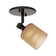 Sea Gull Lighting Directional Spot Light with Amber Glass in Antique Bronze Finish 94878-71