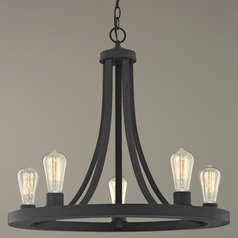 Industrial Chandelier Bronze 5-lights