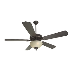 52-Inch Ceiling Fan with Energy Saving Tea-Stained Light Kit