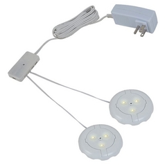 12V LED Puck Light Recessed / Surface Mount 2700K White by Sea Gull Lighting