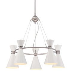 George Kovacs Conic Brushed Nickel Chandelier