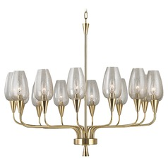 Longmont 14 Light Chandelier - Aged Brass