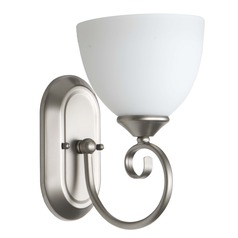 Craftmade Lighting Raleigh Satin Nickel Sconce