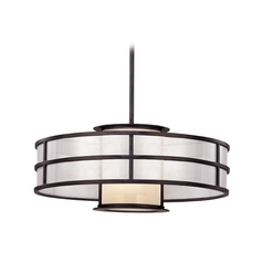 Pendant Light with White Glass in Graphite Finish