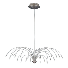 Modern Chandelier in Satin Nickel Finish