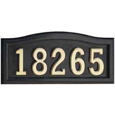 Gaines Hardware Address Plaque HM-SCBL
