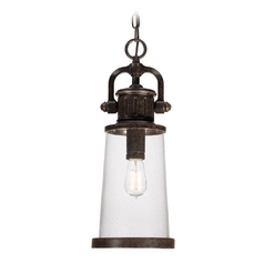 Outdoor Hanging Light with Clear Glass in Imperial Bronze Finish