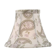 Livex Lighting S321 Paisley Bell Lamp Shade with Clip-On Assembly