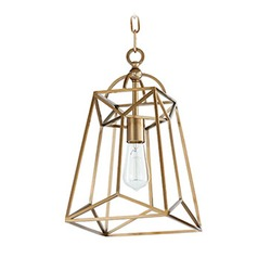 Quorum Lighting Clarkson Aged Brass Mini-Pendant Light