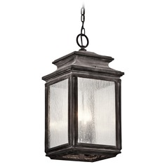 Kichler Lighting Wiscombe Park Weathered Zinc Outdoor Hanging Light