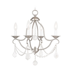 Livex Lighting Chesterfield Brushed Nickel Crystal Chandelier