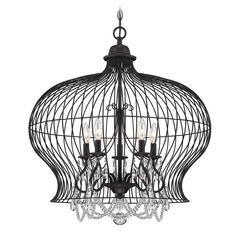 Savoy House Forged Black Pendant Light