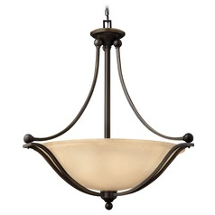 Hinkley Lighting Bolla Olde Bronze Pendant Light with Bowl / Dome Shade