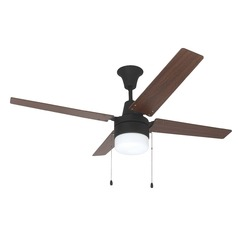 Bronze 48-Inch Ceiling Fan with Light Kit and Pull Chains