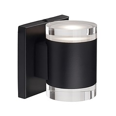 Modern Black LED Sconce with Clear Shade 3000K 683LM