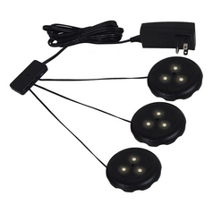 Sea Gull Lighting Ambiance LED Disk Lighting - Complete Black LED Puck Light
