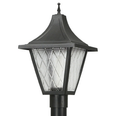 Wave Lighting Marlex Vanguard Black Post Light