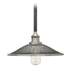 Hinkley Lighting Rigby Aged Zinc Pendant Light with Coolie Shade