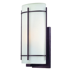 Dolan Designs Outdoor Wall Light with White Glass in Olde World Iron Finish 9302-34