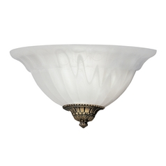 Sconce Wall Light with White Glass in Assorted Cap Finishes Finish