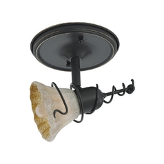 Sea Gull Lighting Directional Spot Light with Amber Glass in Antique Bronze / Ember Glow Finish 94882-71