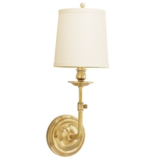 Single-Light Brass Sconce with shade