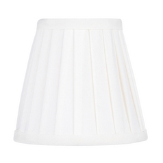 Pleated White Pleat Empire Lamp Shade with Clip-On Lamp Shade Assembly