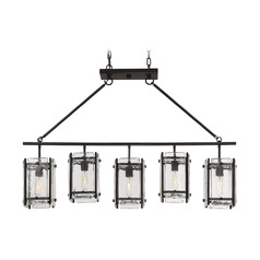 Savoy House Lighting Glenwood English Bronze Island Light with Square Shade