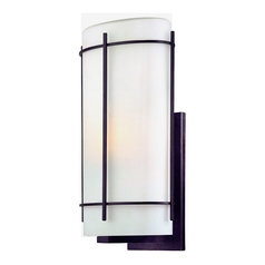 Dolan Designs Outdoor Wall Light with White Glass in Olde World Iron Finish 9303-34