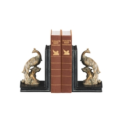 Peacocks Decorative Bookends