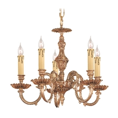 Crystorama Lighting Mini-Chandelier in Olde Brass Finish 2605-OB