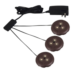 Sea Gull Lighting Ambiance LED Disk Lighting - Complete Plated Bronze LED Puck Light