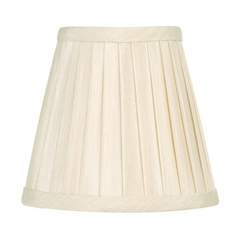 Livex Lighting S316 Pleated Off White Empire Lamp Shade with Clip-On Lamp Shade Assembly