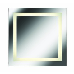 Square 28-Inch Illuminated Mirror by Kenroy Home