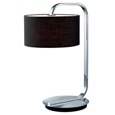 Arnsberg Cannes Chrome Table Lamp with Drum Shade
