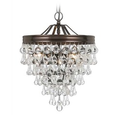 Crystorama Calypso Vibrant Bronze Pendant Light
