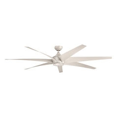 Kichler Lighting Lehr Antique Satin Silver Ceiling Fan Without Light