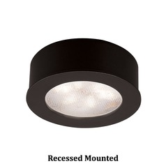 WAC Lighting LED Button Light Black 2.25-Inch LED Under Cabinet Puck Light