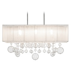 Elan Lighting Imbuia Chrome Island Light with Drum Shade
