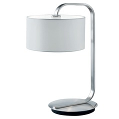 Arnsberg Cannes Nickel Matte Table Lamp with Drum Shade