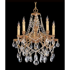 Crystorama Lighting Crystal Mini-Chandelier in Olde Brass Finish 2705-OB-CL-S
