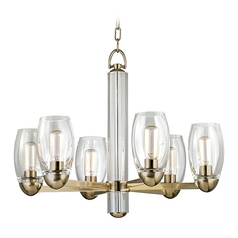 Hudson Valley Lighting Pamelia Aged Brass Chandelier