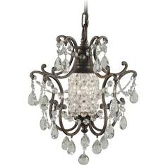 Feiss 1-Light Mini Chandelier in British Bronze