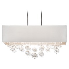 Elan Lighting Piatt Chrome Pendant Light with Drum Shade