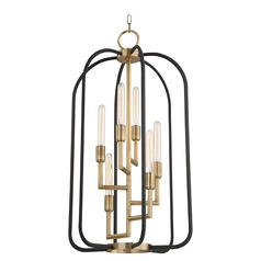 Hudson Valley Lighting Angler Aged Brass Mini-Chandelier