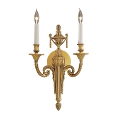Sconce Wall Light in French Gold Finish